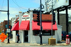 Hero's Sub Shop, Chicago (Cragin Spring) Tags: chicagoillinois chicagoil chicago northside city urban illinois il midwest hero'ssubmarinesandwichshop heros submarinesandwich restaurant roscoevillage awning building corner unitedstates usa unitedstatesofamerica subs
