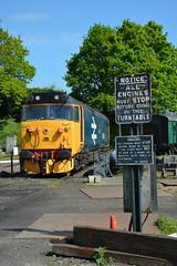 50049 Kidderminster TMD 07/05/2017 (Brad Joyce 37) Tags: 50049 class50 severnvalleyrailway svr diesel locomotive kidderminstertmd engine preserved nikon d7100 depot blue