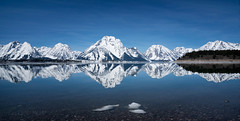 reflection (laura's POV) Tags: reflection nature grandtetonnationalpark nationalpark wyoming jacksonlake lake water sky blue mountains tetons rockymountains spring snow thaw snowcovered beautiful west western unitedstates lauraspov lauraspointofview mirror