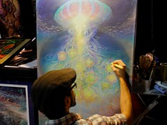 JONATHAN SOLTER (citymaus) Tags: psychedelic science conference multidisciplinary association studies celebration gallery art visionary entheogen entheogens painting paintings artists artist oakland marriott 2017 jonathan solter mind expansion