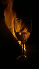 Nokia Lumia 1020 - Goblet of Fire (TempusVolat) Tags: fire glass goblet wineglass bonfire flame flames night dark primal ancient garethwonfor tempusvolat mrmorodo tempus volat gareth wonfor nokia lumia 1020 cameraphone