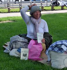 Homeless Woman in Washington DC (Peter Schnurman) Tags: washington dc homeless woman dupont circle