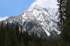 Blue skies on my travels (davebloggs007) Tags: watridge lake hike rocky mountains alberta canada