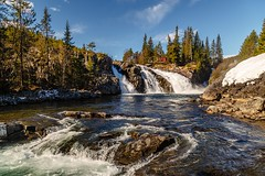Ryfossen (tods_photo) Tags: ifttt 500px trees sky river blue sun clouds speed snow stone waterfall stream