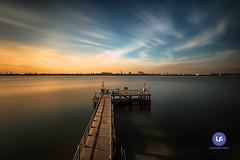 夕阳无限好,只是近黄昏。 (Darrell Neo) Tags: punggolbeach singapore landscape seascape longexposure haida haidafilter 10stops 3stops 13stops water sea sky colors jetty nikon d750 1635mm