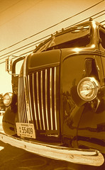 Old truck sepia (inetjoker) Tags: nikon f2 photomic acufine ei100 polypanf 24mm