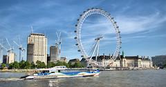 River Thames (ihughes22) Tags: london londoneye riverthames ihughes22 nikon water river boat bigwheel capital embankment cranes
