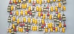 wood buoy display (Lynn Friedman) Tags: traderjoes 104thst sanfrancisco ca 94103 4155367801