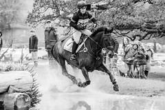 Competitor 249 (gavsidey) Tags: chatsworth horse trials jump fence black white splash water gallop