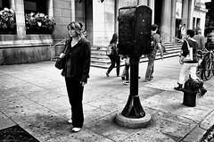 Corner of Michigan and Randolph (draketoulouse) Tags: chicago loop randolph michigan street avenue blackandwhite monochrome people cigarette city urban sidewalk outside pedestrian museum