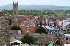 St Lawrence's Church and Market Square (Badly Drawn Dad) Tags: gbr ludlow shropshire unitedkingdom ludlowcastle ludlowspringfestival fromthetower geo:lat=5236711397 highview viewfrom geo:lon=272366822 geotagged