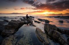 Seamill sunset (chrismarr82) Tags: nikon d750 sunset scotland sea ayrshire seamill rocks lee filters sky sun