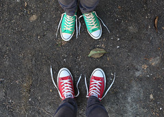 Finding Common Ground (YetAnotherLisa) Tags: chucks converse commonground shoes laces