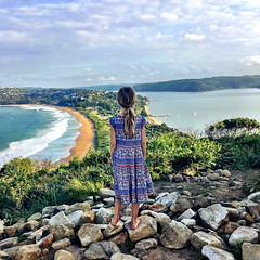 Zoe. Looking out from Barrenjoey Lighthouse
