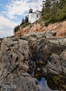 Granite Shore and Lighthouse in Bass Harbor, Trenton, Maine (40038-40040)