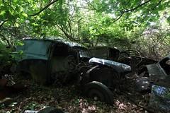 IMG_1115 (mookie427) Tags: urbex urban explore abandoned car cars scrapyard graveyard decay decayed derelict rust rusty medlers norfolk austin a55 van