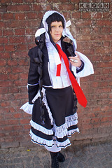 IMG_2476.jpg (Neil Keogh Photography) Tags: headress silver manga ribbons lace wig hood anime blouse videogames nwcosplayjunemeet2016 gothiclolita frills dress tights danganronpa maiddress jacket red female schoolgirl coat black hat tie cosplay white celestia boots cosplayer ring celestialudenberg playingcard