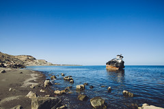 San Juan de la Costa shipwreck (dataichi) Tags: baja california sur travel tourism destination outdoors landscape nature mexico industrial ship boat shipwreck ocean cortez sea