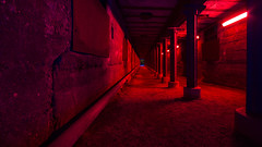 Red tunel (schmitzcoesfeld) Tags: duisburg lapano nacht ruhrgebiet nordrheinwestfalen deutschland de landschaftsparknord
