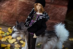Autumn spirit ([Hisomu]) Tags: bjd abjd ball jointed doll kanadoll adrian easternlight studio wolf companion animal pet