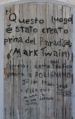 Polignano a mare (soothsayer_) Tags: polignano mare puglia apulia italy out sea city rocks writers walls bird sun sunset nature