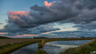 Clouds above the polder