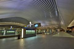 Gare Guillemins (Mettwoosch) Tags: liege belgium europe lüttich belgien europa nacht lichter longexposure langzeitbelichtung night lights outdoor canon eos 5dm3 ef lens 5d3 architecture architektur travel tour