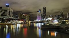 Melbourne from Seafarers Bridge 2017-04-29 (5D_32A7845) (ajhaysom) Tags: melbourne southwharf seafarersbridge docklands southbank australia night yarrariver canoneos5dmkiii canon24105l