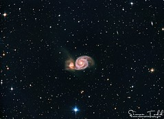 M51 - Whirlpool Galaxy In LRGB (Simon Todd Astrophotography) Tags: m51 whirlpoolgalaxy ursamajor deepsky deepspace ccd qhyccd qhy5lii ukastronomy astrophotography astronomy celestron skywatcher atik sequencegeneratorpro pixinsight 383l eq8pro baader starlightxpress galaxy longexposure stacking space astrometrydotnet:id=nova2076056 astrometrydotnet:status=solved