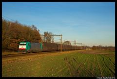 B Logistics 2840, Rijssen 25-11-2016 (Henk Zwoferink) Tags: holten overijssel nederland nl rijssen henk zwoferink volvo lineas b logistics nmbs sncb alpha trains 2840 reeks28 reeks volvotrein trein cargo