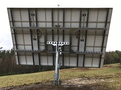 Pika PV Link solar optimizers mounted to an All Earth tracker