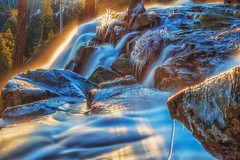 (Marc Crumpler (Ilikethenight)) Tags: landscape usa california laketahoe emeraldbay eaglefalls sunrise sunlit waterfall water flow marccrumpler ice icy trees rocks canon canon6d 6d 24105mmf4l