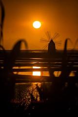 n (Giovanni Coccoli 75) Tags: sunset tramonto saline di trapani marsala mulini rosso arancione vaanze favola sogno sicilia riflessi