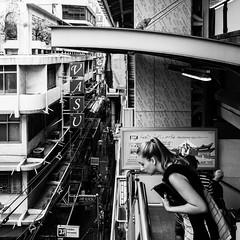 Shall I go into that mess? (franleru1) Tags: 1x1 bangkok omd olympus thailand thailande architecture architecturecontemporaine blackandwhite city geometry girl graphism monochrome noiretblanc photoderue streetphotography urbain urbanism urbanisme ville woman