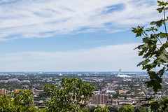 Montreal and its Olympic Stadium, Mont-Royal (Arthur Guillemont) Tags: canada montreal montréal view city building cloud sky mountroyal olympic stadium