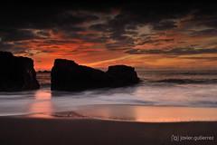 Sea & Fire [Explored] (gjaviergutierrezb) Tags: sunset beach longexposure silk water canarias islascanarias canaryislands explorer