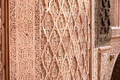 Marrakech (Travel around Spain) Tags: marrakech marruecos africa árabe musulmán mezquita islam minarete arquitecturaárabe arquitecturaislámica caligrafía geometría arabesco grabado jardín naranjo puerta farol cerámica palmera ventana eja labrado mosaico celosía cúpula árboles altavoz especias cigüeñas ladrillo tejas nido antenaparabólica tejados mármol adobe piedra barro montañas paisaje colinas desierto embalse camello olivo