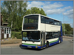 W564 RSG, Wellingborough (Jason 87030) Tags: w564rsg howard diamondcoaches plaxton president dennis trident bus wellingborough event rally northants april sunny weather clouds 2017 doubledecker