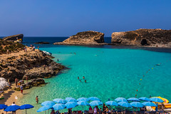 Blue Lagoon (emilqazi) Tags: blue lagoon comino island malta sea seascape landscape mediterranean travel beach water rocks people swimmers