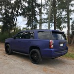 Yukon Denali fully wrapped in Matte Brilliant Blue Metallic with gloss black wrapped accents -------------------------------- Questions? Quotes? Book an appointment , email us at cwdwrap@gmail.com 📩 or call give us at the shop thumbnail
