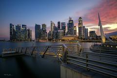 Singapore City Sunset (Martin Yon) Tags: singapore sunset cityscape marina bay jetty travel city