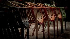 chairs (Pedro1742) Tags: chairs empty colors clairobscure red green