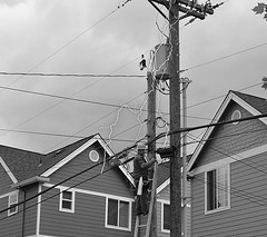 Oh Oh (swong95765) Tags: zap electricity lightning shocking wire electrician voltage current ladder workman zapped ouch