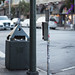 Destoryed dog waste station