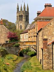 Helmsley, North Yorkshire (robin denton) Tags: town markettown northyorkshire yorkshire northyorkmoors buildings church bridge beck stream