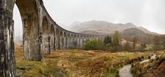 Glenfinnan Viaduct (Mark Alan Andre) Tags: markalanandre scotland travel unitedkingdon clouds landscape bridge infrastructure glenfinnan viaduct trail mountain rain harry potter