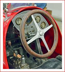 1939 Maserati Tipo 4-Cylinder Race car Model (sjb4photos) Tags: 28thnamesexpo modelengineshow 1939maserati modelcar steeringwheel