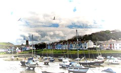 ⛵️Sail away... (Orchids love rainwater) Tags: wales boats hss gulls sky clouds april 2017 church houses aberaeron