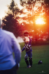 (Rebecca812) Tags: father son baseball catcher catch popup baseballgear cathersgear fatherandson dad boy childhood candid fun play family portrait twopeople differentialfocus sunlight susnet trees idyllic outdoors happiness catchersglove