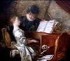 IMG_6972ME Jean Honoré Fragonard. 1732-1806. Paris. La leçon de musique. The music lesson. Louvre. (jean louis mazieres) Tags: peintres peintures painting musée museum museo instrumentsdemusique musicalinstruments jeanhonoréfragonard